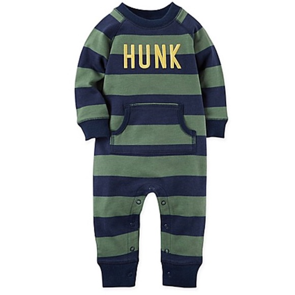 aa97c6aca32d6 Carter's One Pieces | Baby Boy Hunk Striped Romper Size 24 Months ...